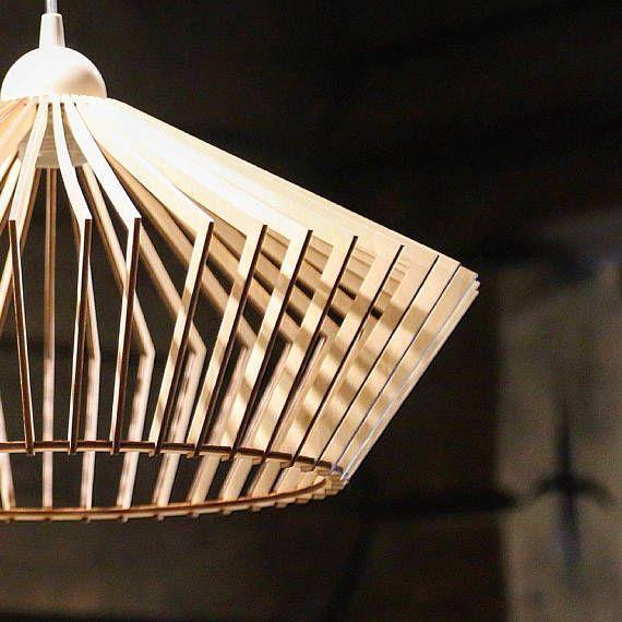 56 euros Bois Lampe Bois Shade Suspension Light Plafond