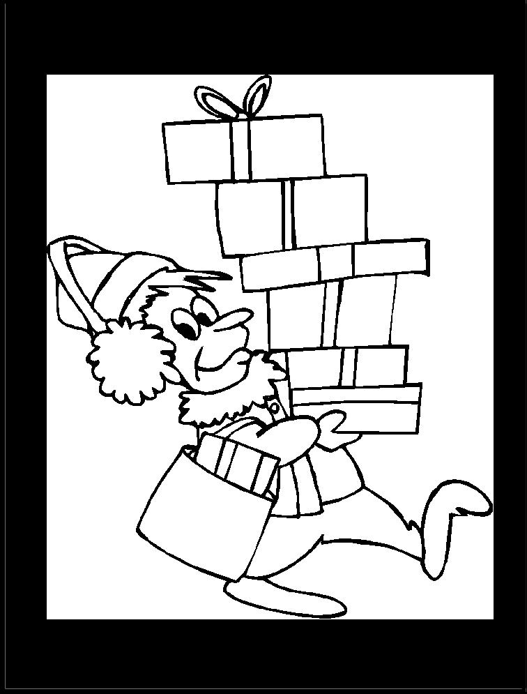 Imagen de Grinch feliz regresando los regalos | Imagen para colorear ...