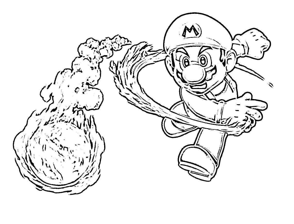 mario-coloring-page1.jpg (1211×926) | Colouring Pages for Children ...
