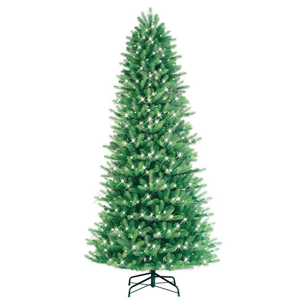 GE 9 ft. Pre-Lit LED Just Cut Black Hills Fir Artificial Christmas ...