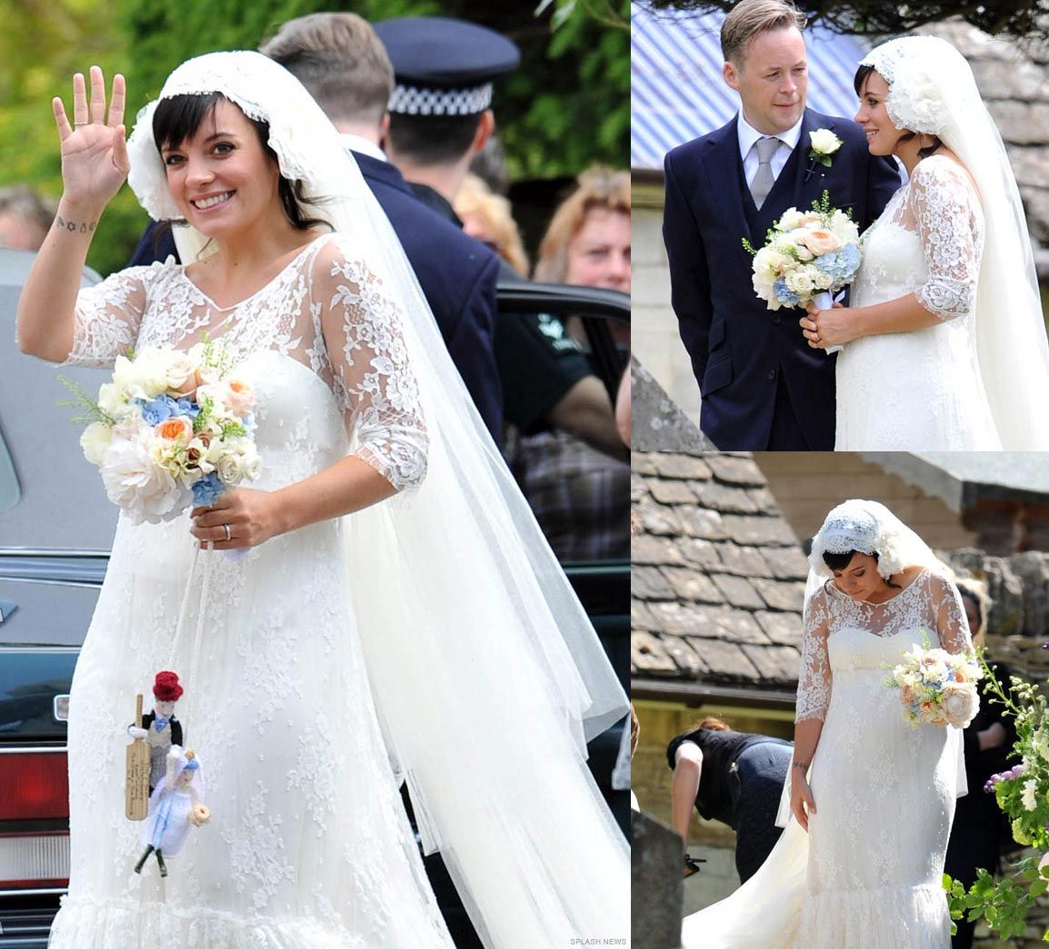 Lily Allen and Sam Cooper Lace weddings, Celebrity