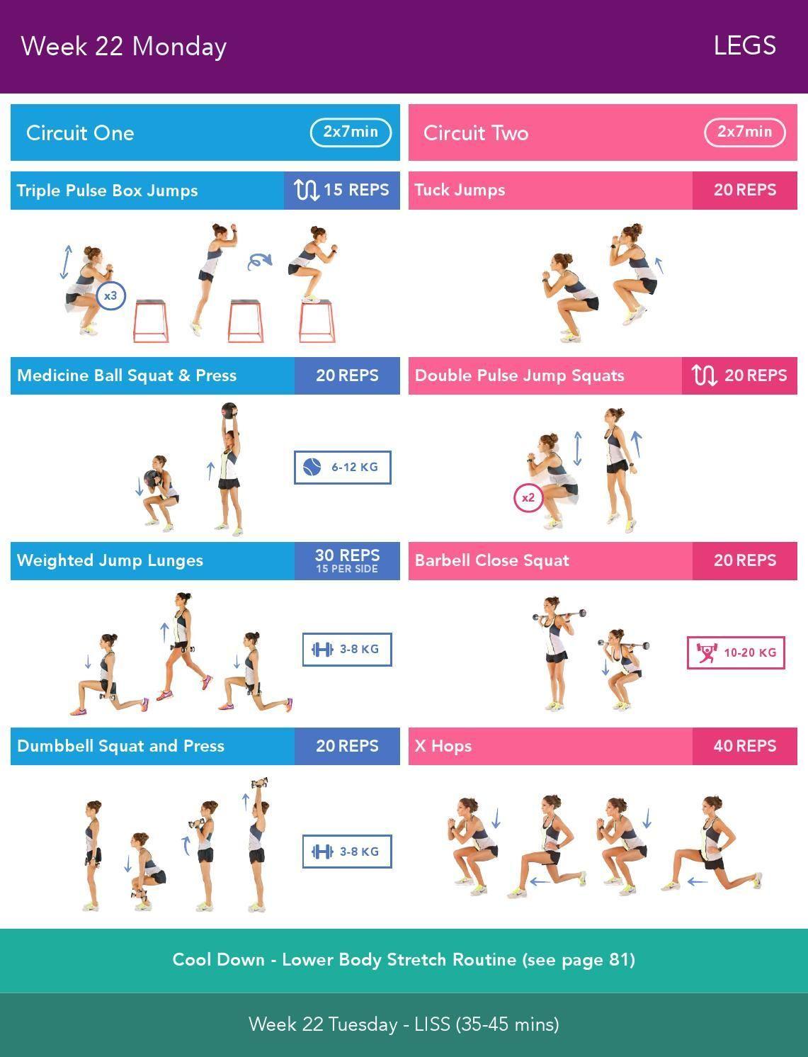 22 ItsinesWeeks Monday 0 By Kayla 24 Week Body Guide 13 Bikini 2 34ALRj5