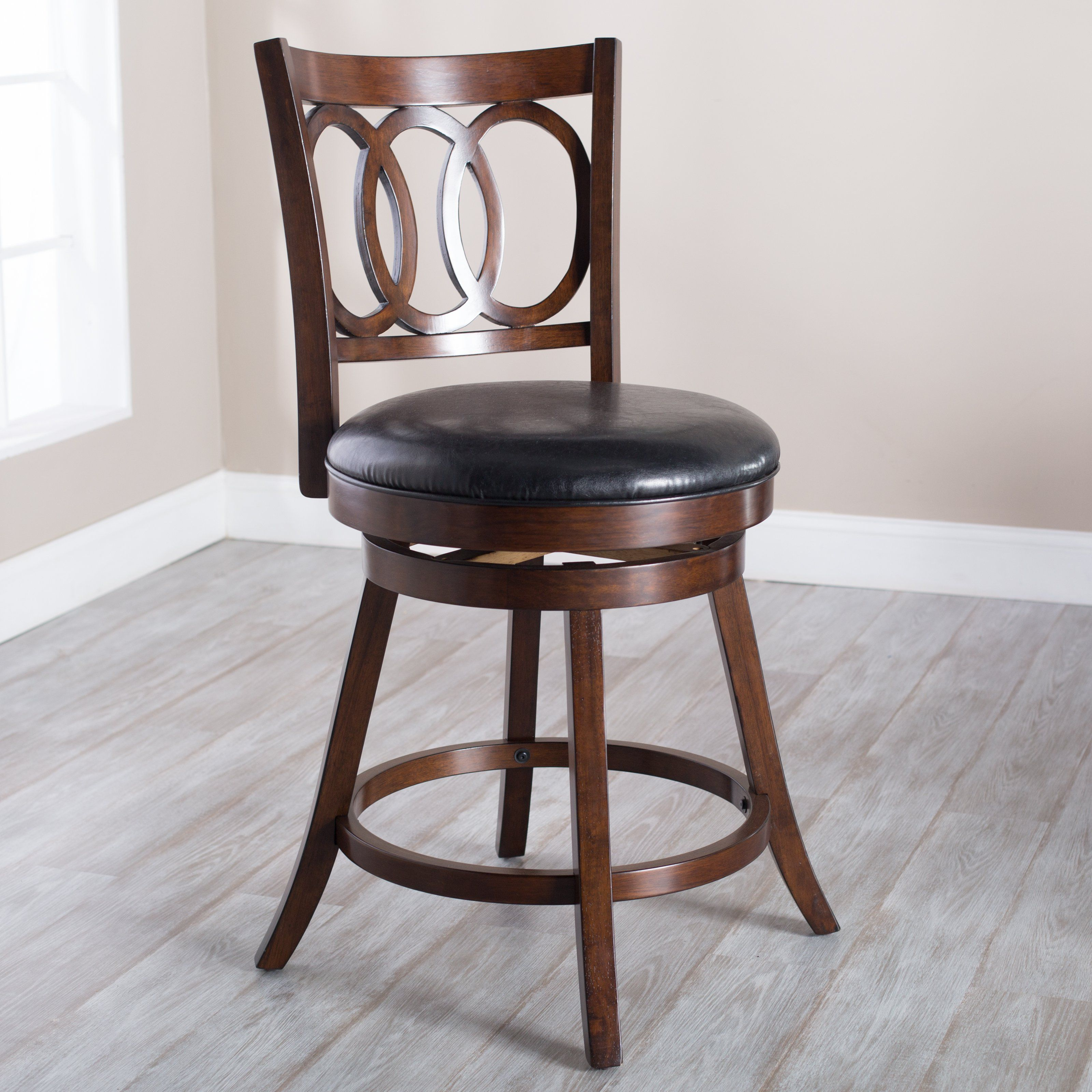 Belham Living Woodward Swivel Counter Stool From Hayneedle Com