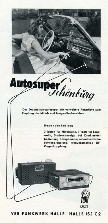 Autosuper Schönburg VEB Funkwerk Halle Advertising