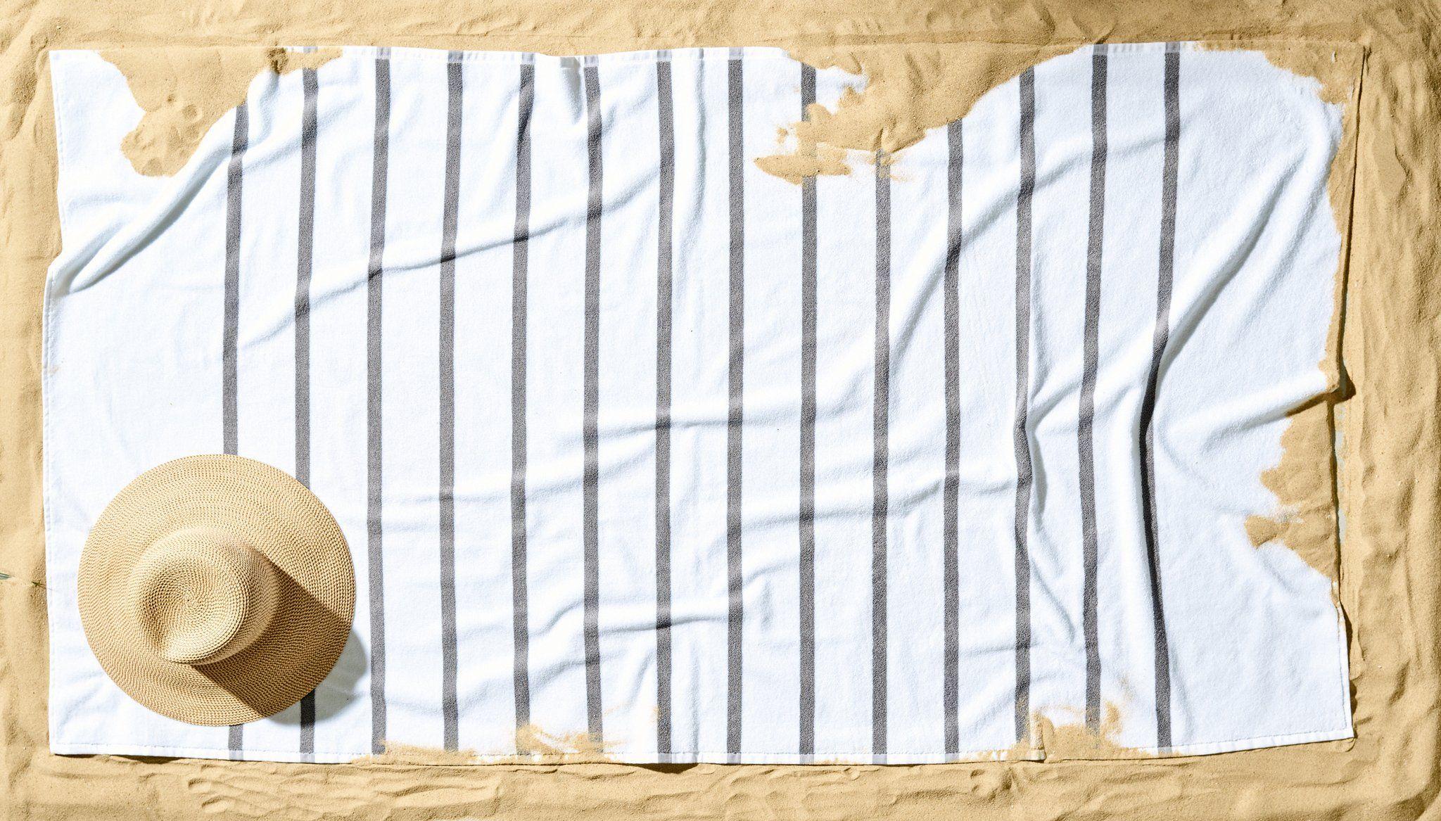 Beach Towel - Sunny Stripe | Designer beach towels, Beach ...