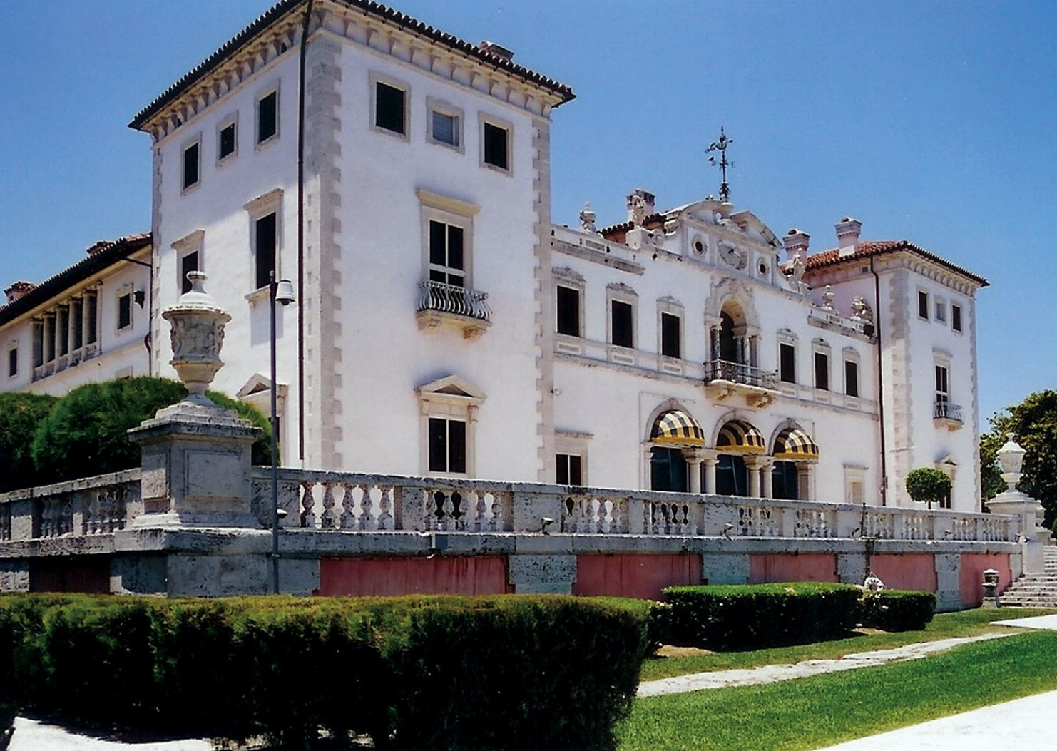 Vizcaya in Miami, Florida.  Built in the early 1900's after the Venetian Palaces.  The house and Gardens are Amazing!