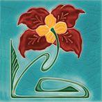 Art Nouveau tiles decorated -  Art Nouveau F 24 V1