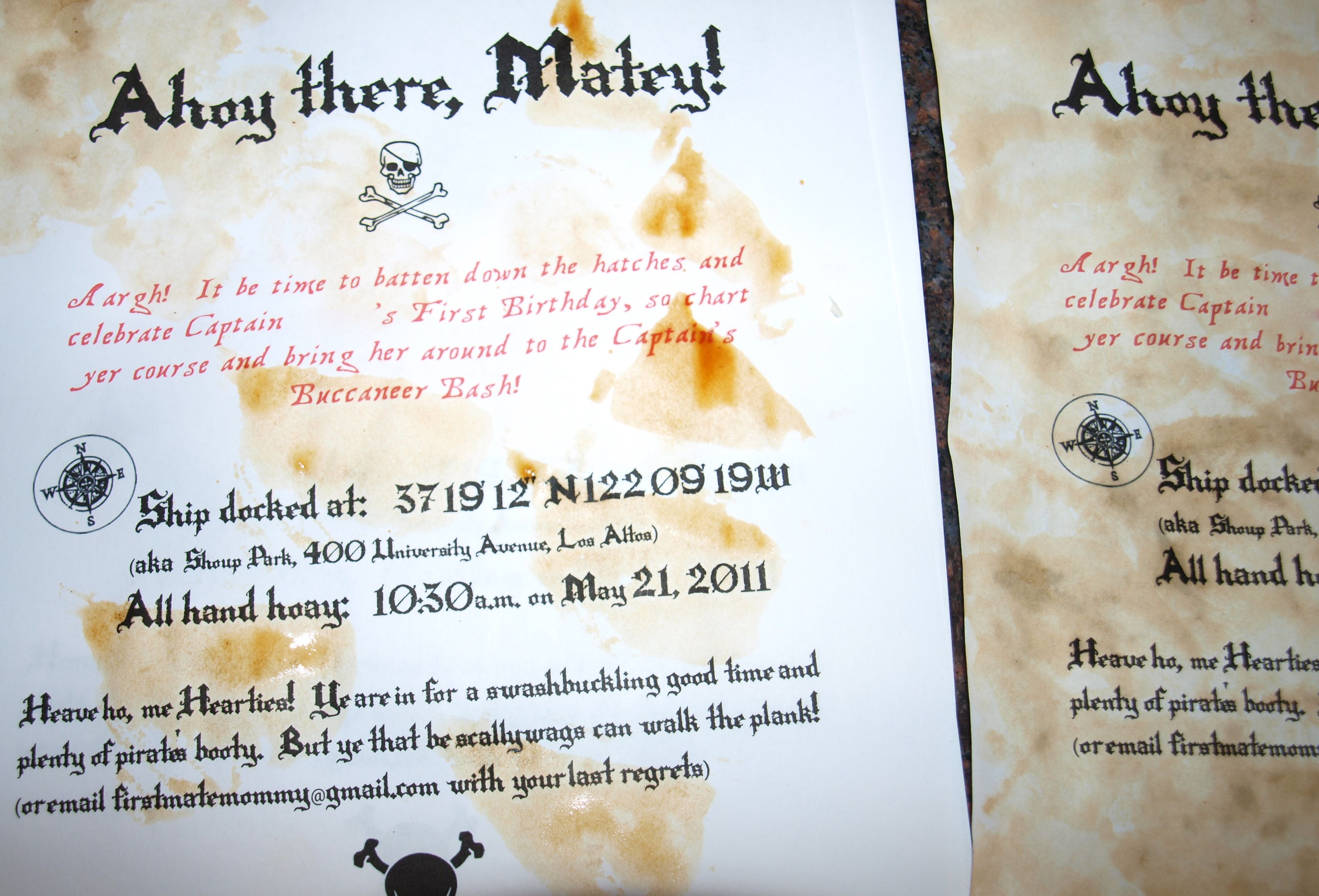 pirate birthday invitation | Party Ideas | Pinterest | Party ...