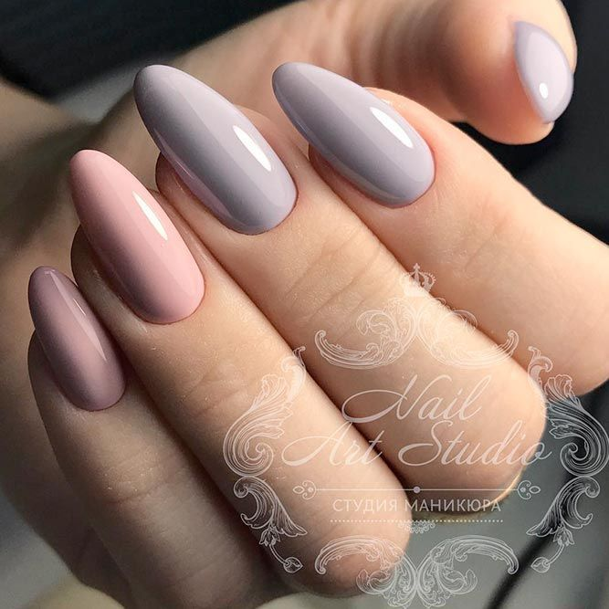 27 Lovely Designs for Almond Nails You Won't Resist ❤ Сlassic Design: - 33 Lovely Designs For Almond Nails You Won't Resist Uñas
