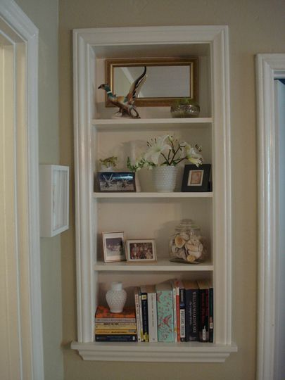 pin by vicki schweinsberg on my likes recessed shelves wall nook home decor. Black Bedroom Furniture Sets. Home Design Ideas