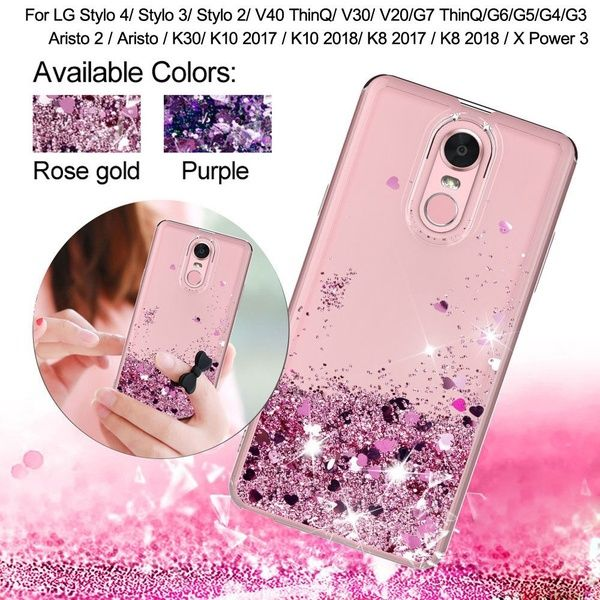 Glitter Bling Moving Liquid Quicksand Clear TPU Protective