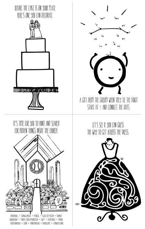 kids wedding coloring book pages to keep them busy during the ...