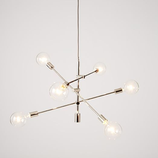 Mobile Home Light Fixtures: Mobile Pendant - Brushed Nickel