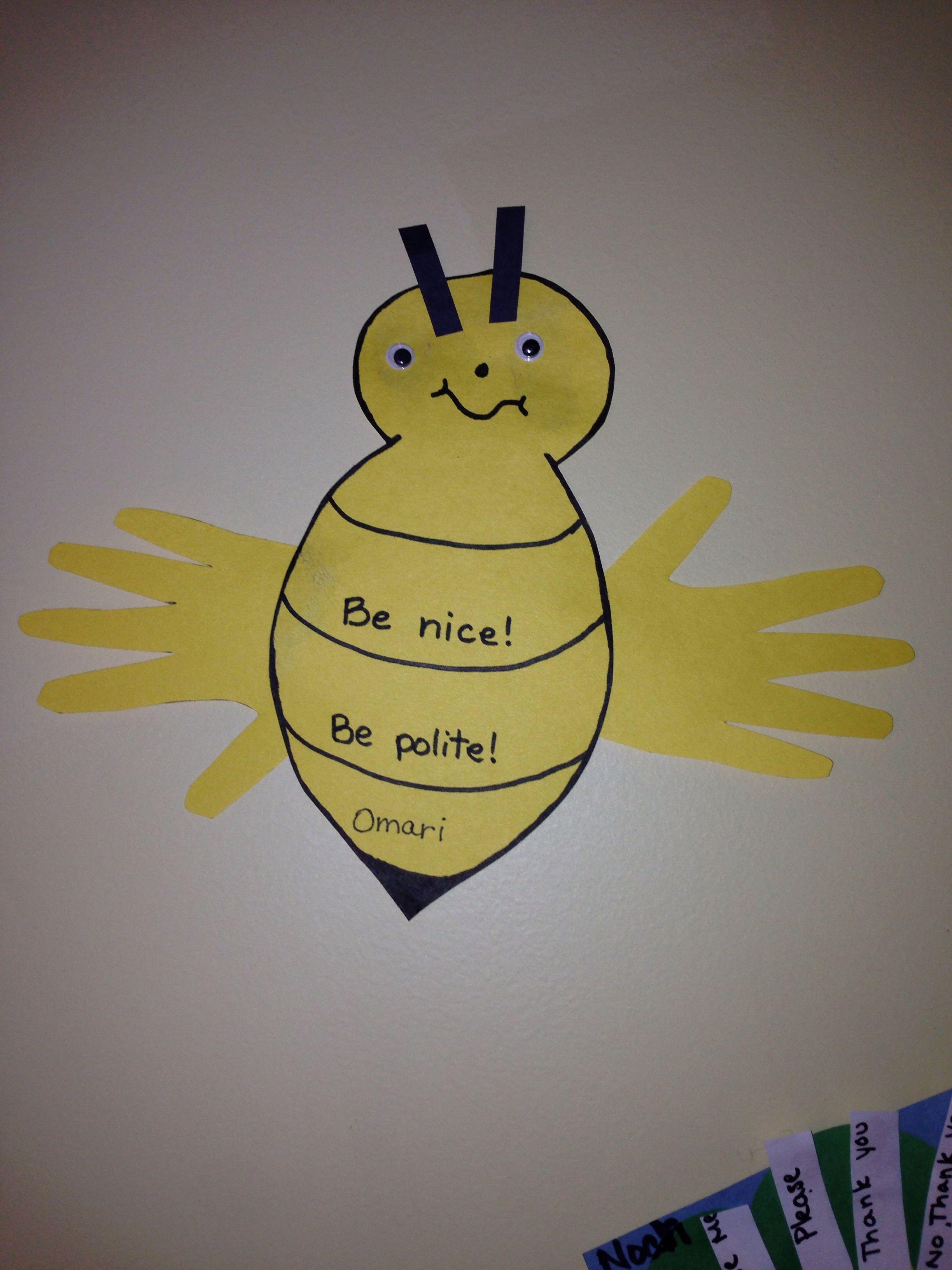 Preschool Craft For Manners Week