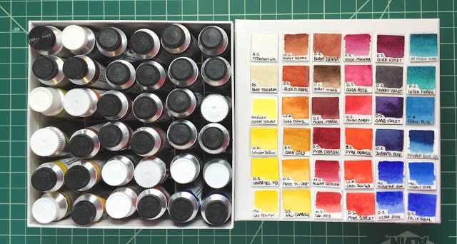 Vintage Marie S Watercolor Water Colour Paint Colour Set 18 Tube