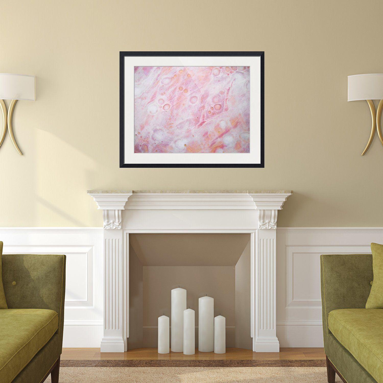 Abstract Framed Wall Art - Rectangle #6   Living room green, Modern ...