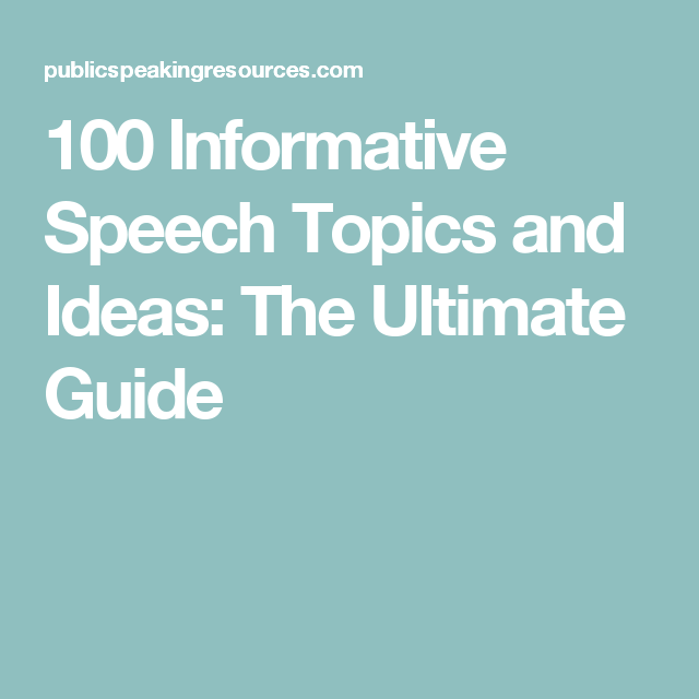 informative speech topic ideas Visit: 100+ presentation topic ideas | persuasive speech topic ideas subscribe to our youtube channel:  .