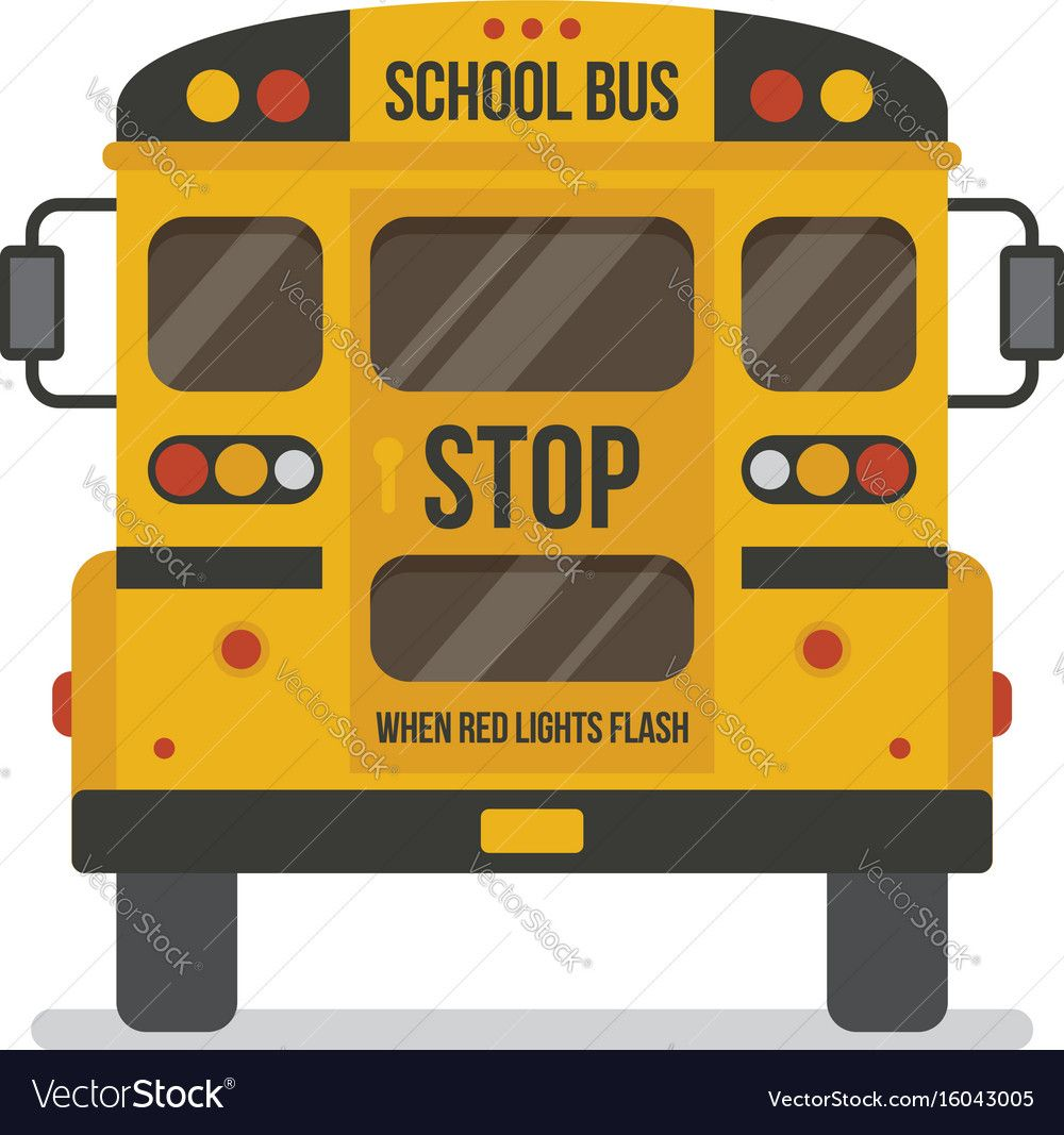 School Bus Back View Royalty Free Vector Image Sponsored View