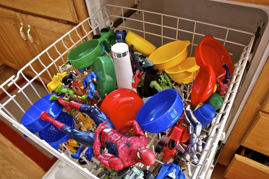 toys in the dishwasher