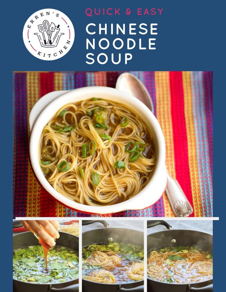 Quick Easy Chinese Noodle Soup Recipe Asian Soup Recipes Warm Soup Recipes Chinese Noodles