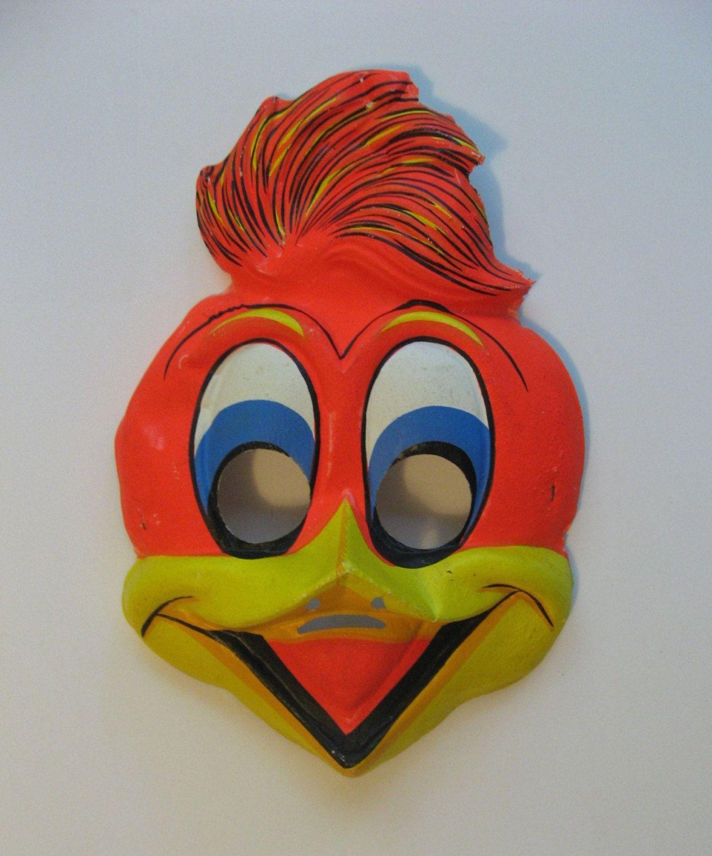 Woody Woodpecker. vintage Ben Cooper Halloween mask costume ...