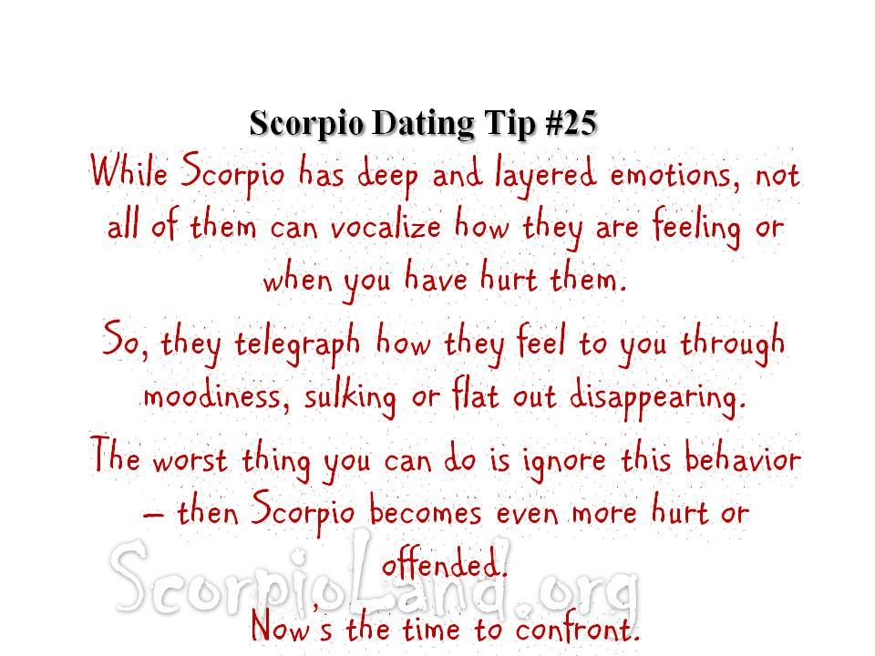 Scorpio woman dating