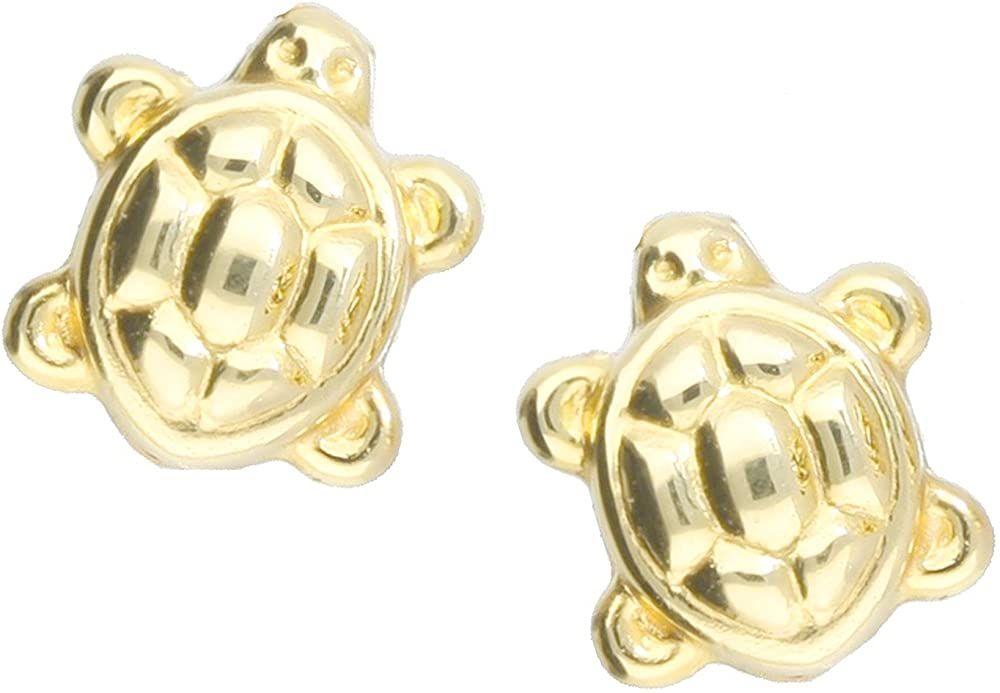 Schildkröten-Ohrstecker ~ 18 Karat vergoldet ~