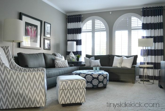 Captivating Bold And Bright Living Room Makeover   Before U0026 After Idea