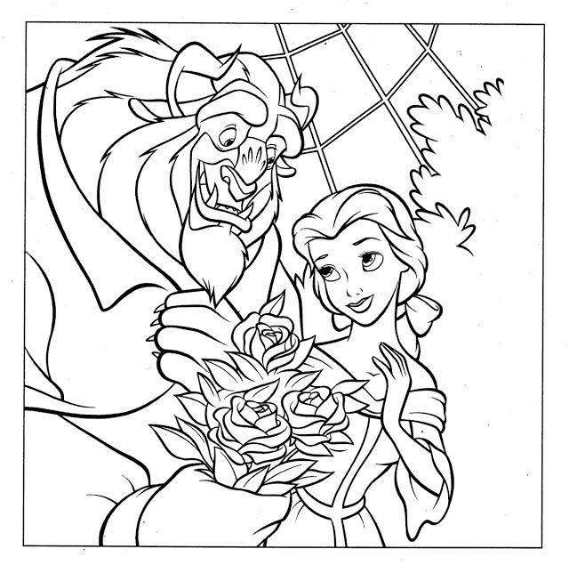 Imagem Relacionada Disney Coloring Pages Beauty And The Beast Colorful Drawings Print