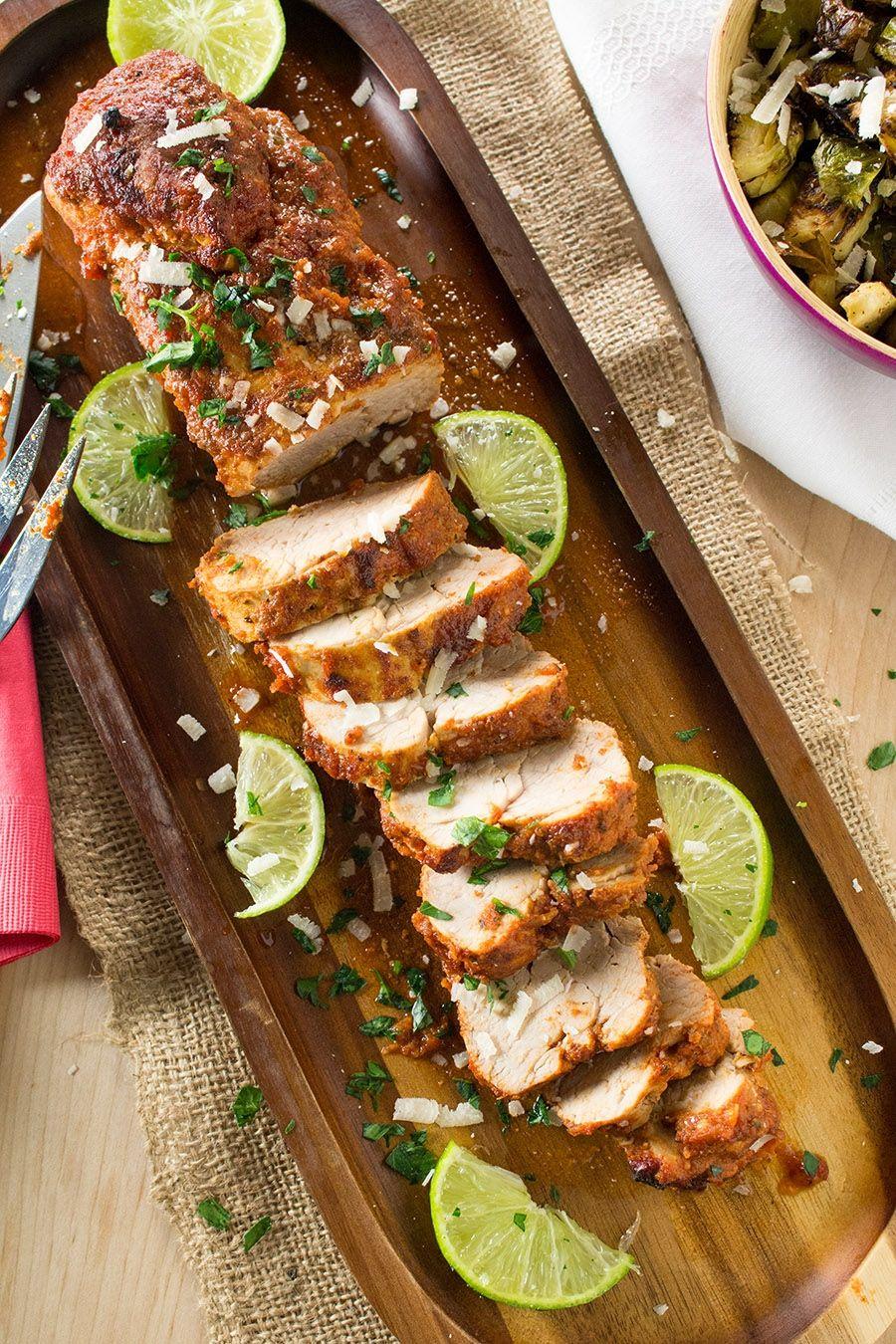 Chili Baked Pork Tenderloin #Recepten #Varkenshaas