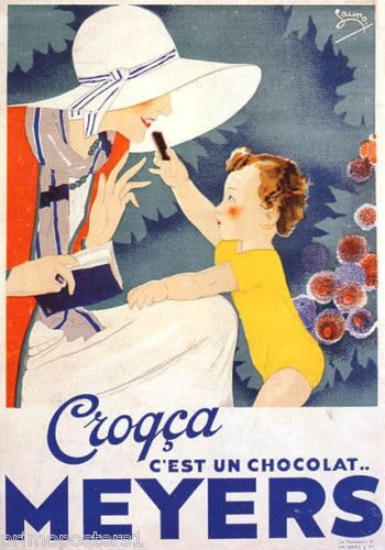 French vintage chocolate advertisement you
