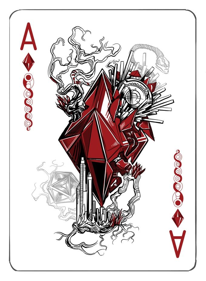 The Ace Of Diamonds Playing Cards Art Card Art Playing Card Tattoos