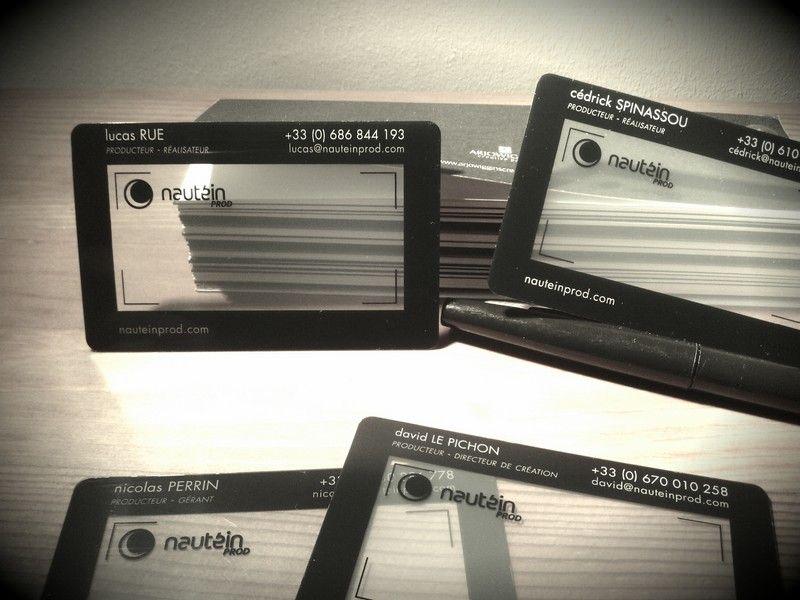 Cartes De Visite En PVC Transparent Imprim Par Print Hunter By