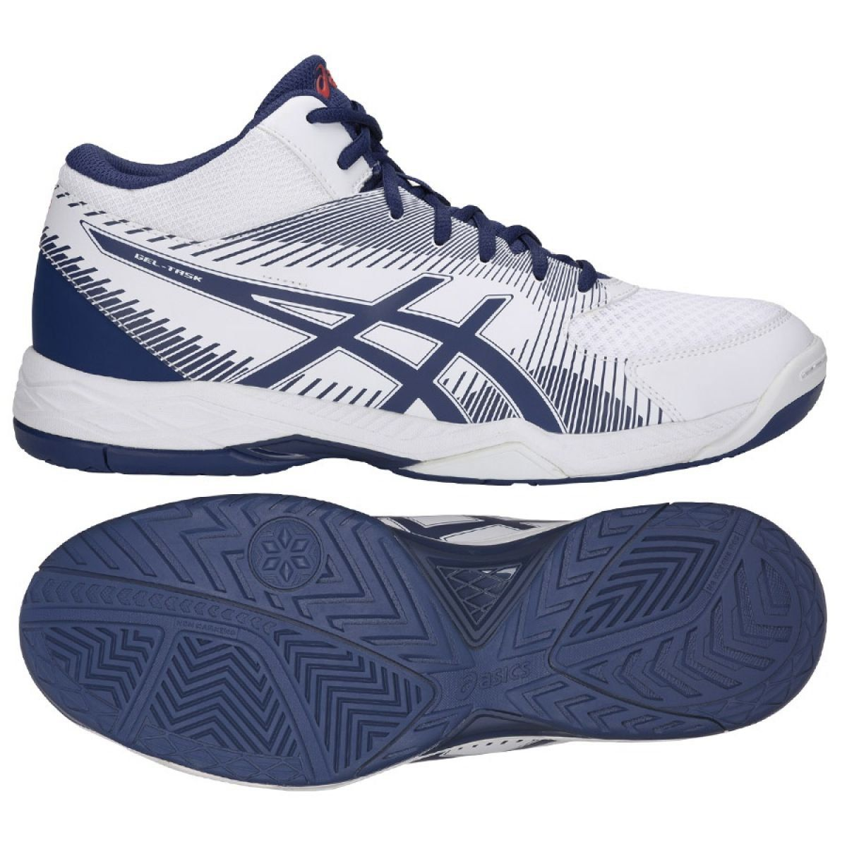 Asics Gel Task M B703y 100 Volleyball Shoes White White Volleyball Shoes Asics Shoes