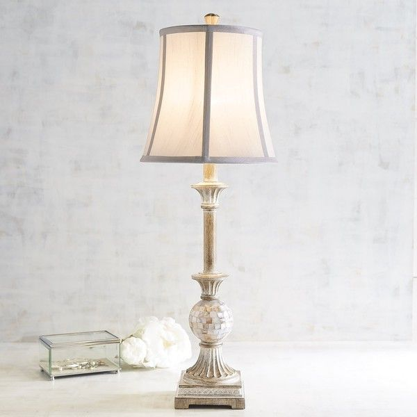 Pier 1 imports mother of pearl buffet lamp 3 070 rub ❤ liked