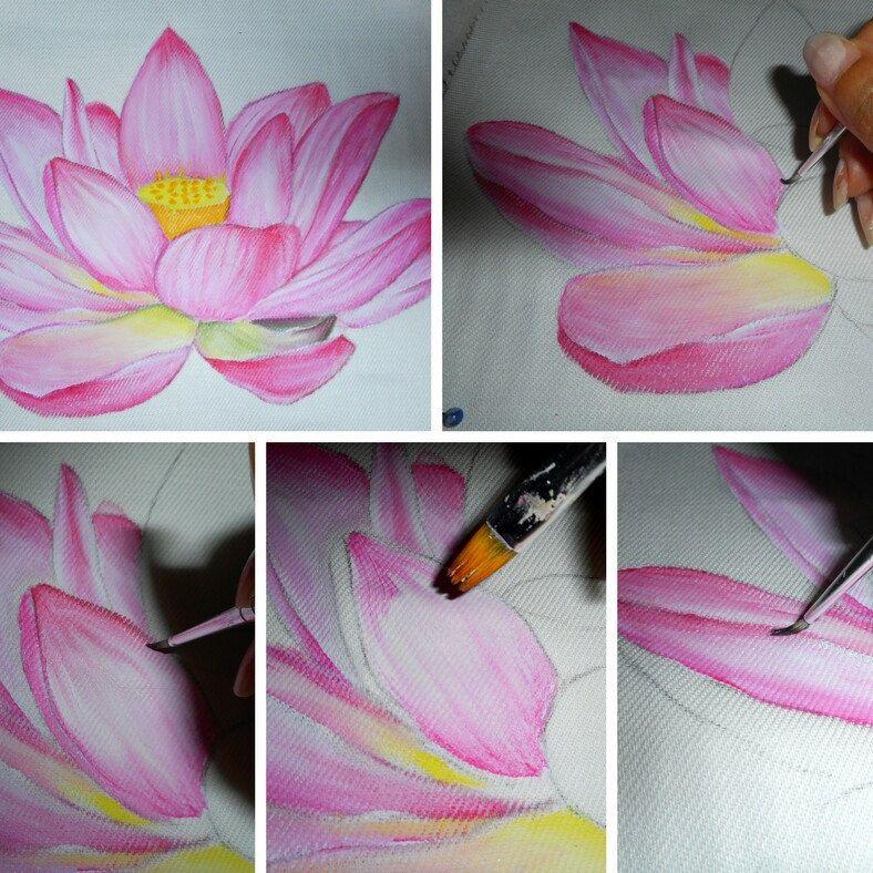 Nello Shop Anche I Tutorial Per Imparare A Dipingere Su Stoffa In My Shop Tutorial To Learn Fabric Fiori Dipinti Acrilici Dipingere Fiori Imparare A Dipingere