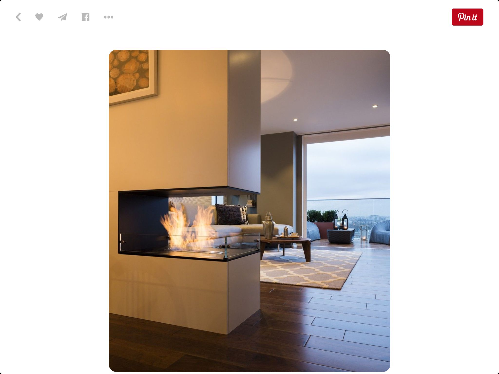 fireplace open room separation fireplace room partition