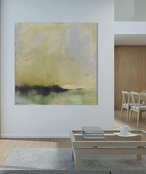 Fertig zum Aufhängen abstrakte Landschaft-Leinwand abstrakte ...