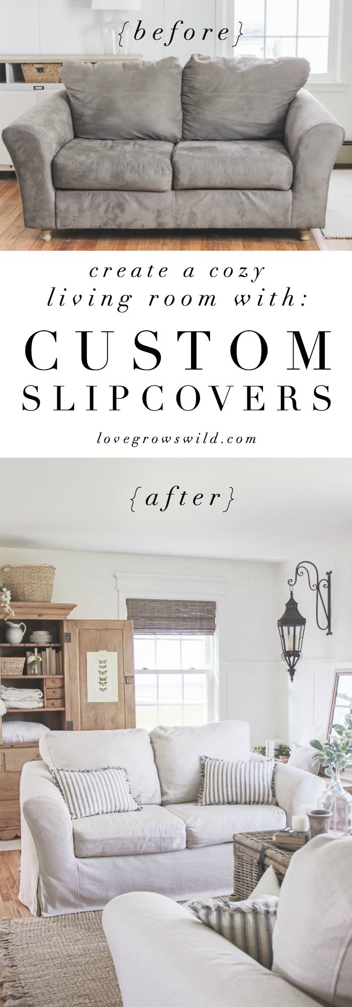 Living Room Slipcovers - A Comfort Works Review | Pinterest ...