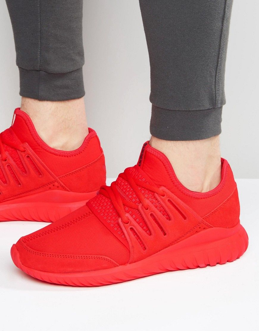 new styles 639ec 8fe82 ADIDAS ORIGINALS TUBULAR RADIAL SNEAKERS IN RED S80116 - RED.   adidasoriginals