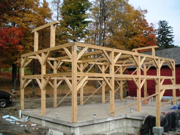 Post And Beam Construction Post And Beam Timber Frame Timber