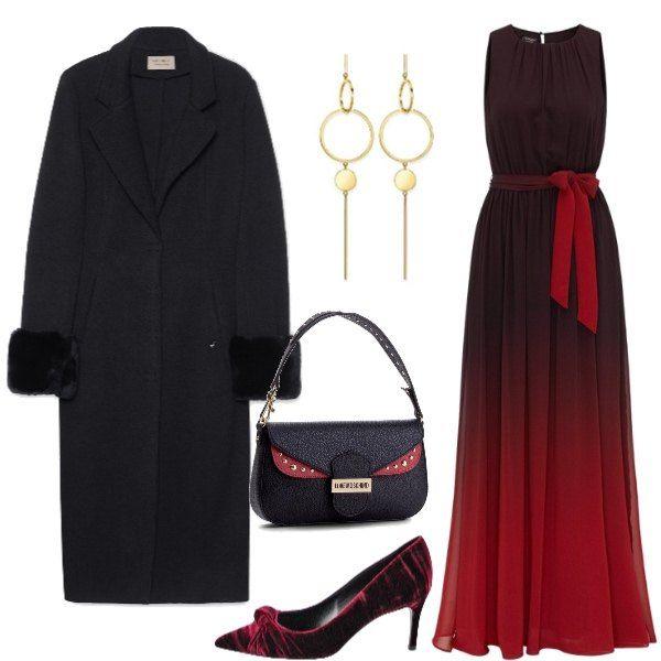 new styles 2e3d7 0526e Abito smanicato, lungo ed elegante, indossato con décolletë ...