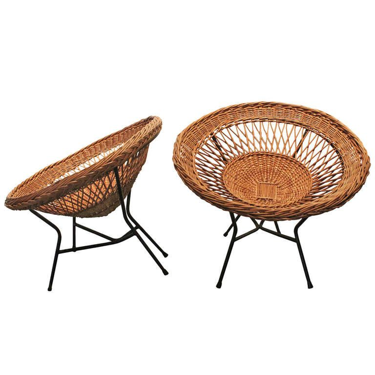 Wondrous Pair Of Modernist Woven Wicker Scoop Chairs In 2019 1St Uwap Interior Chair Design Uwaporg