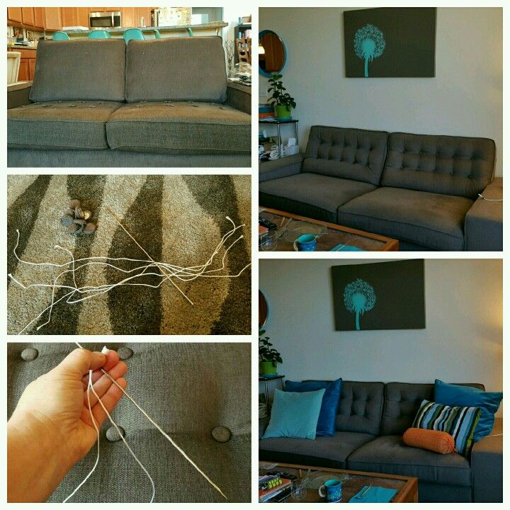 button tufted kivik sofas for a much elevated look ikea hacks in rh pinterest com