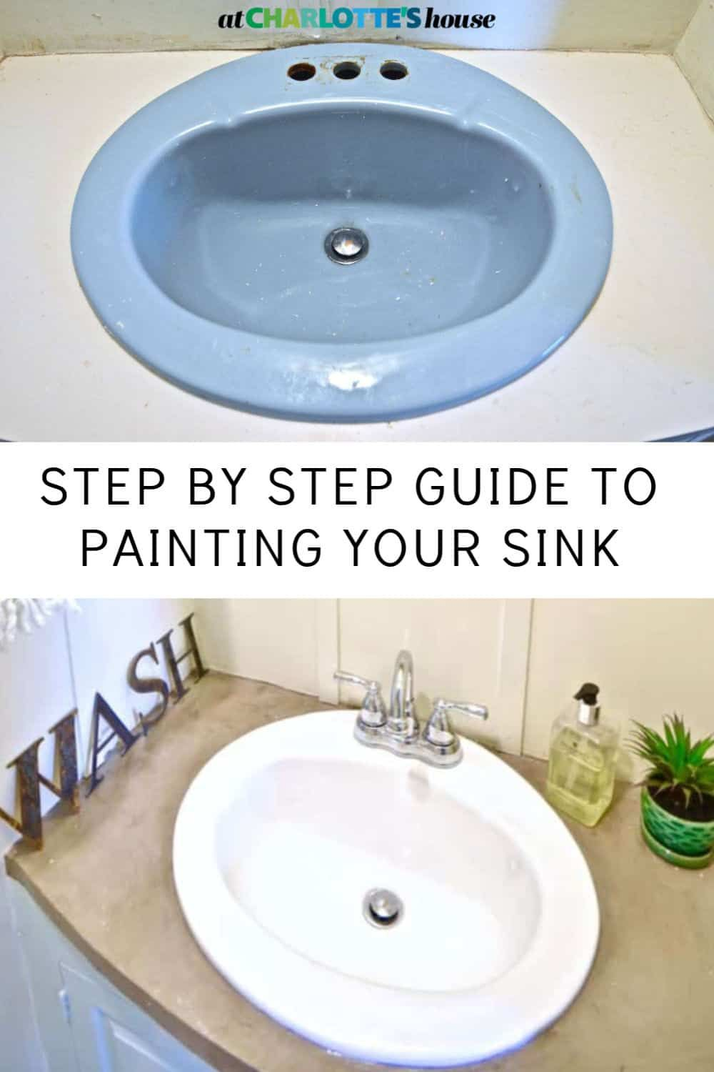 How To Paint A Sink In 2020 With Images Painting A Sink