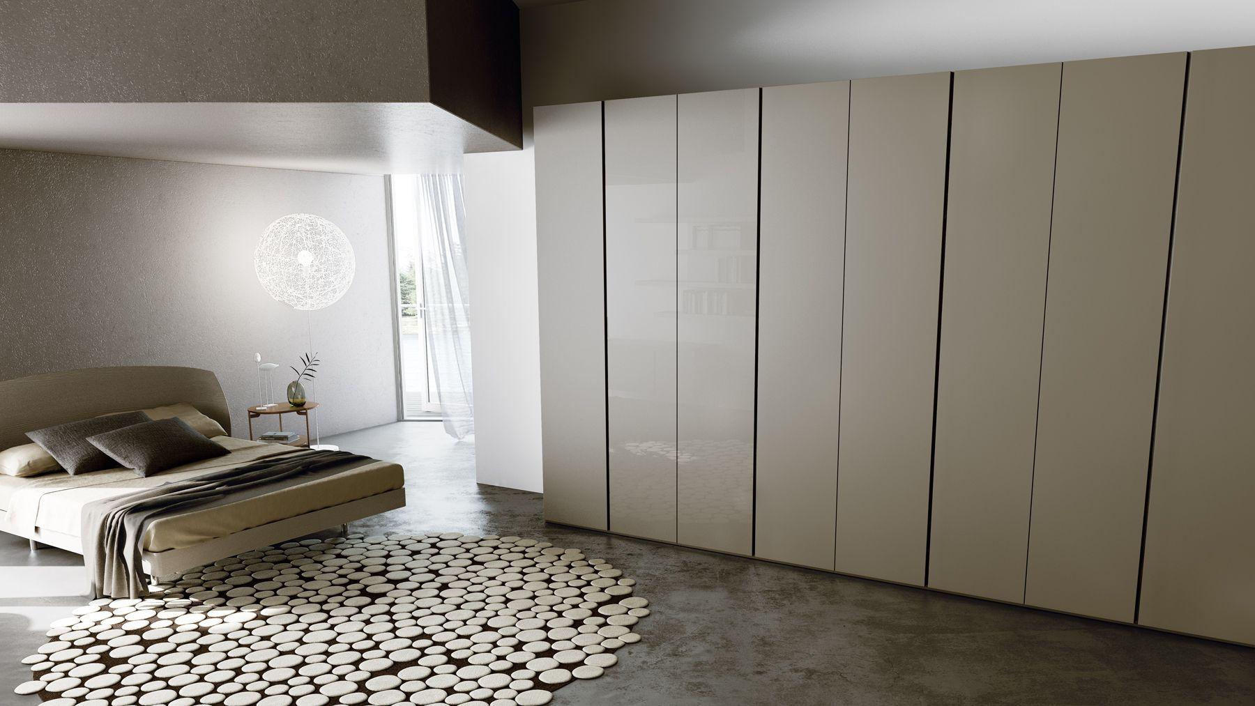 Invisible handles wardrobe flat wardrobe caccaro for Moschella arredamenti roma