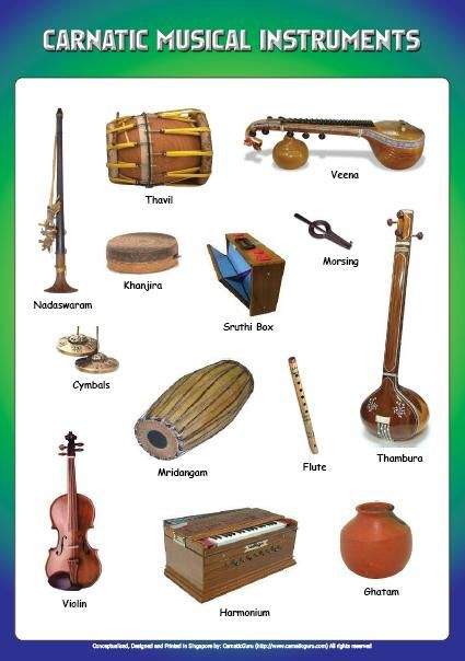 Carnatic South Indian Instruments The Indian Classical Music Tradition Consists Of Two Indian Musical Instruments Indian Instruments Music Instruments Diy