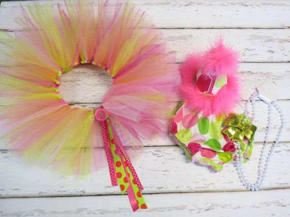 ADD A TUTU To Coordinate with the Hot Pink & Lime by callyfindlay