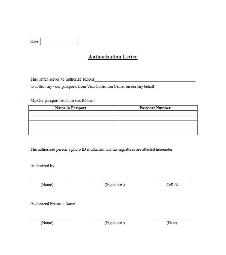31 Free Authorization Letter Samples Ms Office Documents