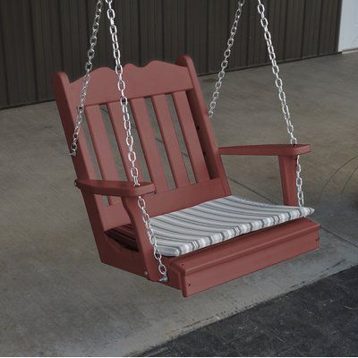 Schommelbank Royal Swing.A L Furniture Royal English Porch Swing Finish Cherry Wood Tuin